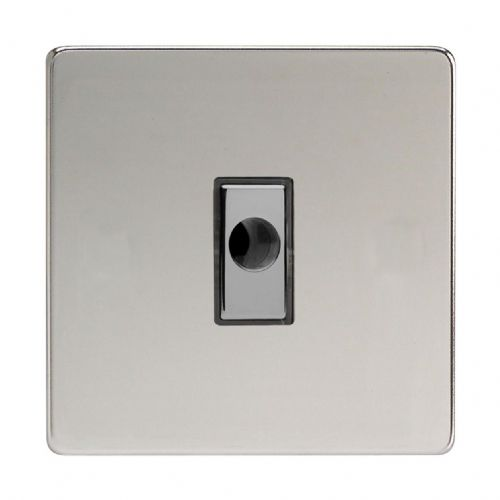 Varilight XDCFODS Screwless Polished Chrome 1 Gang 16A Flex Outlet Plate